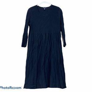 Eileen fisher black wool sweater dress midi m